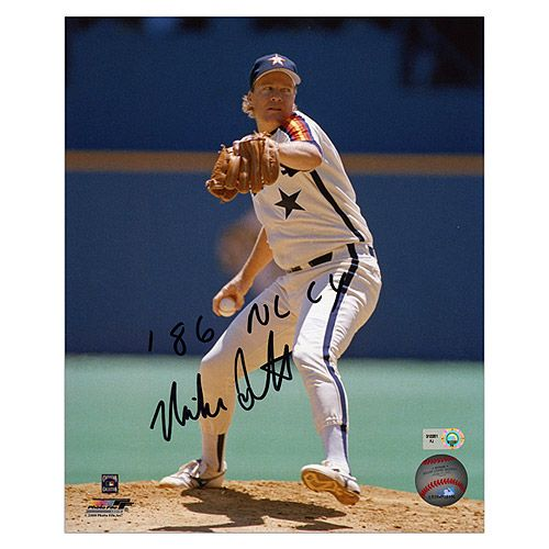 Mounted Memories Houston Astros Mike Scott Autographed 8x10 Photo with 86 NL CY Inscription