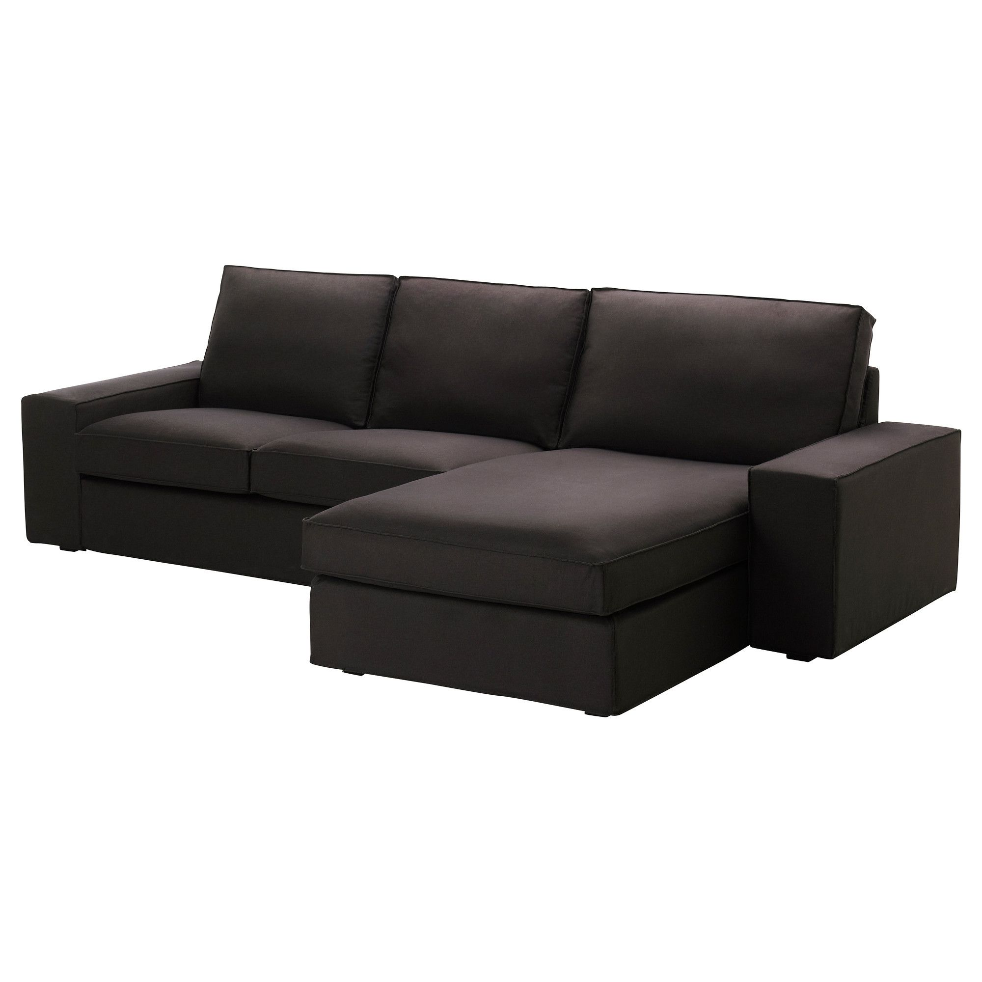 Kivik Loveseat And Chaise Lounge Idemo Black Ikea For The Home Pinterest Chaise