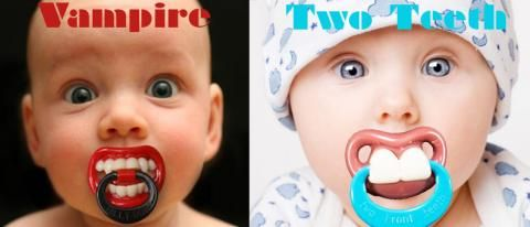 €10,95 Vampire Two Front Teeth Pacifier Tutter