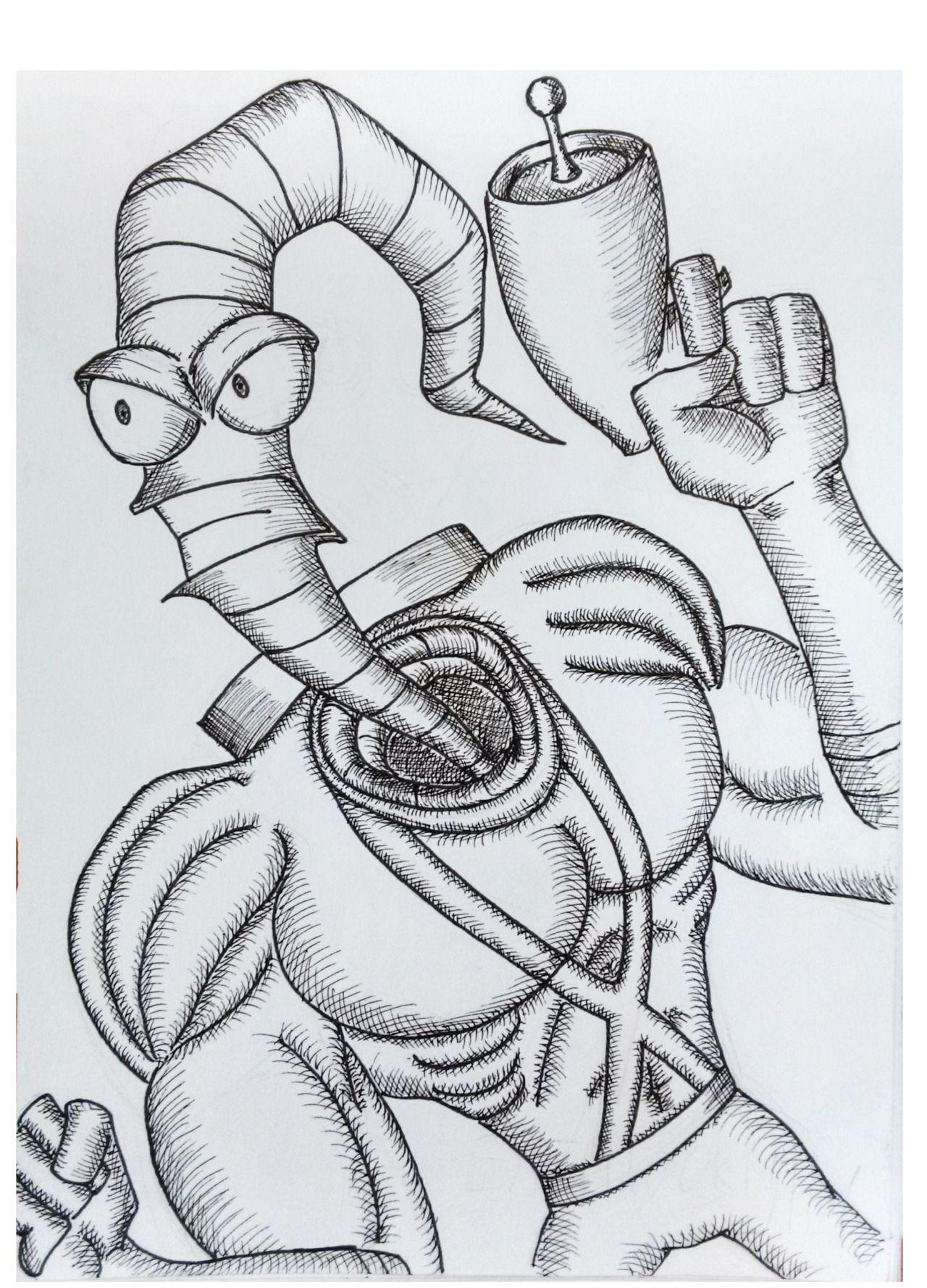 Sketch-Earthworm Jim | My Sketches | Pinterest
