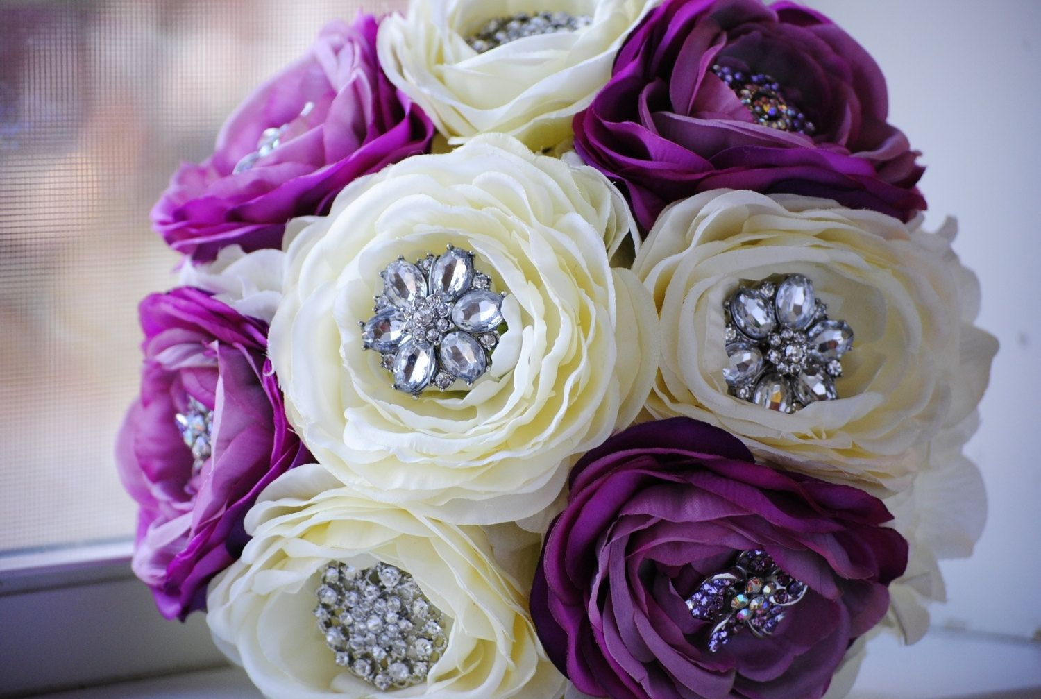 Handmade brooch bouquet with fabric flowers by brooch bouquets by handmade brooch bouquet with fabric flowers by brooch bouquets by nicolasa cicero custommade izmirmasajfo