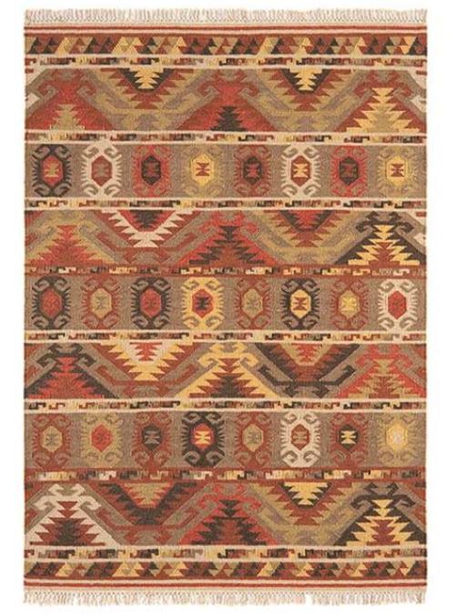 Kelim Tribal Stripe Rug In 2020 Rugs Kelim Rug Wool Rug