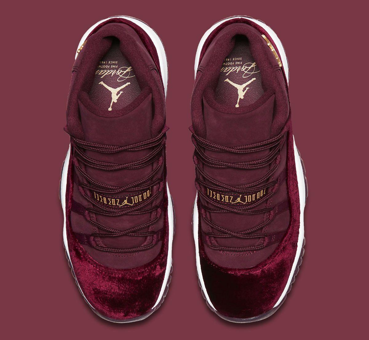 127d743af43 Air Jordan 11 GG Red Velvet Heiress Release Date Top 852625-650 ...