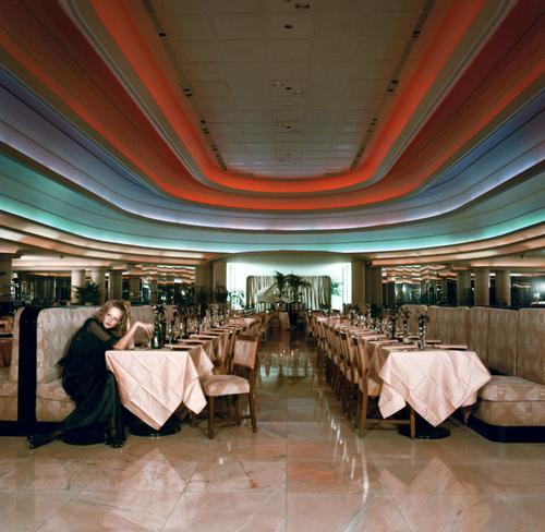 Twiggy in the Rainbow Room at Big Biba, early 70s