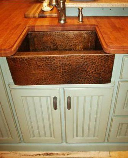 Pin by lesia miera on i want this pinterest hammered copper kitchen pantries copper farm sinkcopper workwithnaturefo