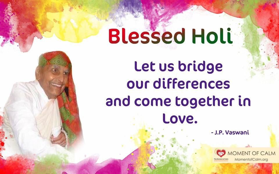 Blessed Holi. Let us bridge our differences and come together in Love.   #holihai #Holihai #happyholi #color #colour #love #pyaarkarang #bridge #differences #pyaar #Holi #rang #holi2020 #happyholi2020 #holifestival #holifest #colors