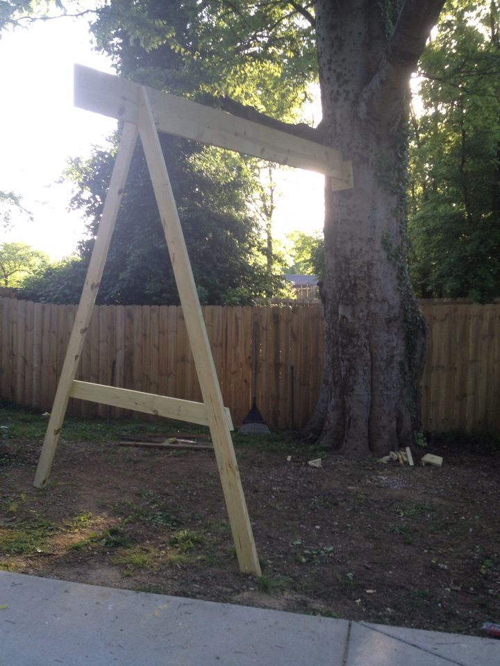Adding A Branch For A Tree Swing Tree Swings Diy Backyard For Kids Backyard Decor