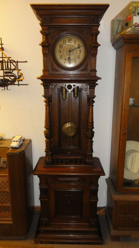 Antique German Black Forest Grandfather Tall Clock