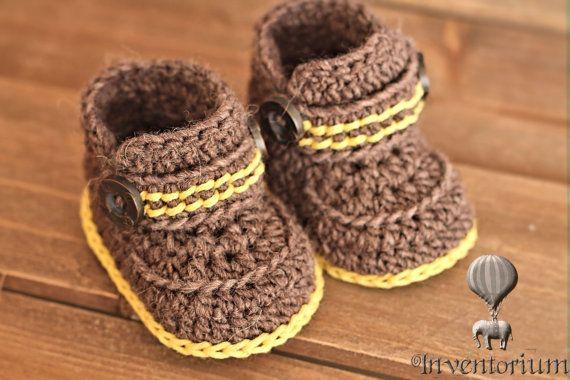 Crochet Pattern for Boys Boots Greko Boot Booties por Inventorium ...