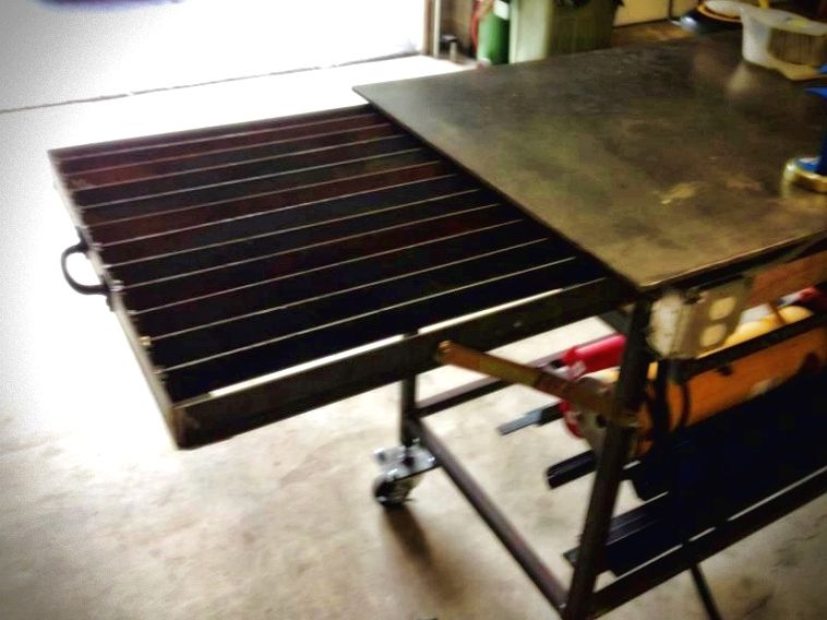 Metal Working Tips Make Time To Enjoy Your Hobby Art Projects Are An Easy Way To Rest And Funnel Your Creative En Welding Bench Welding Table Welding Projects