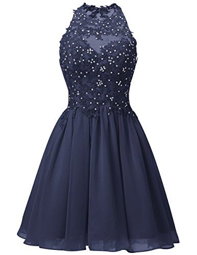 Dresstells® Short Chiffon Halter Neck Prom Dress With…   Kleider ...