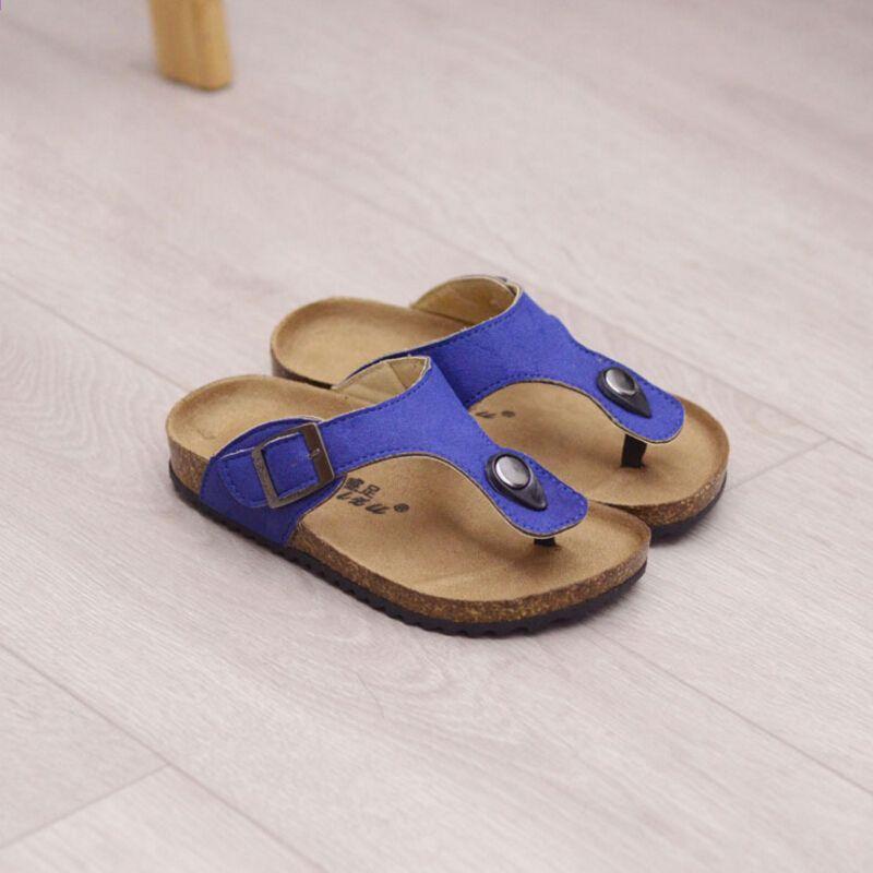 Qloblo 2018 Lato Nowy Styl Chlopcy Dziewczyny Dzieci Sandaly Korkowe Kapcie Antyposlizgowe Dzieci Kapcie Mody Plaza Beach Slippers Kids Sandals Princess Shoes