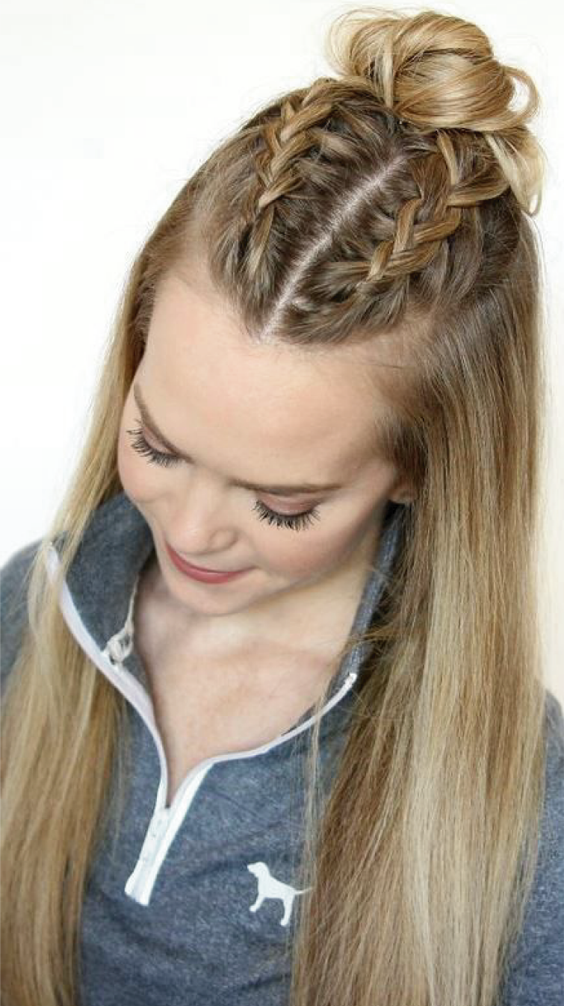 Searching Hairstyles For Long Thick Hair Here Is Our Pick Of 8 Easy Hairstyles For Long Thick Hair Check Easy Hairstyles Thick Hair Styles Medium Hair Styles