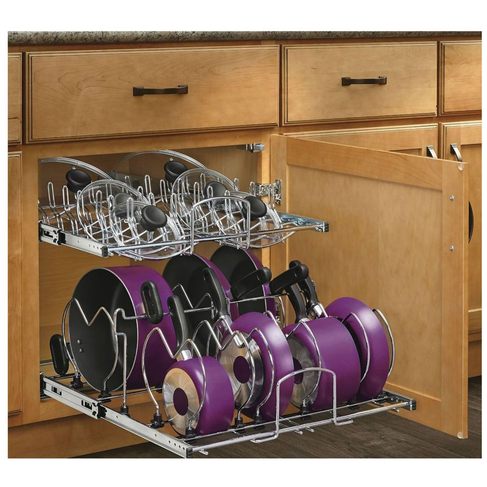 kitchen cupboard organizers pan lid pot