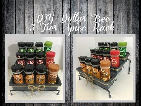 Diy Dollar Tree 3 Tier Spice Rack Youtube Diy Spice Rack Dollar Store Diy Organization Dollar Store Diy