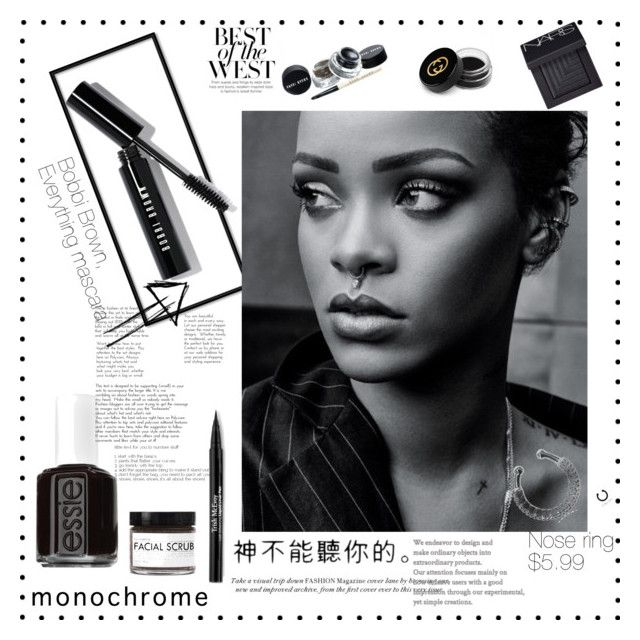 Riri by alexadch on Polyvore featuring polyvore, beauty, Bobbi Brown Cosmetics, Gucci, NARS Cosmetics, Trish McEvoy, Fig+Yarrow and Essie