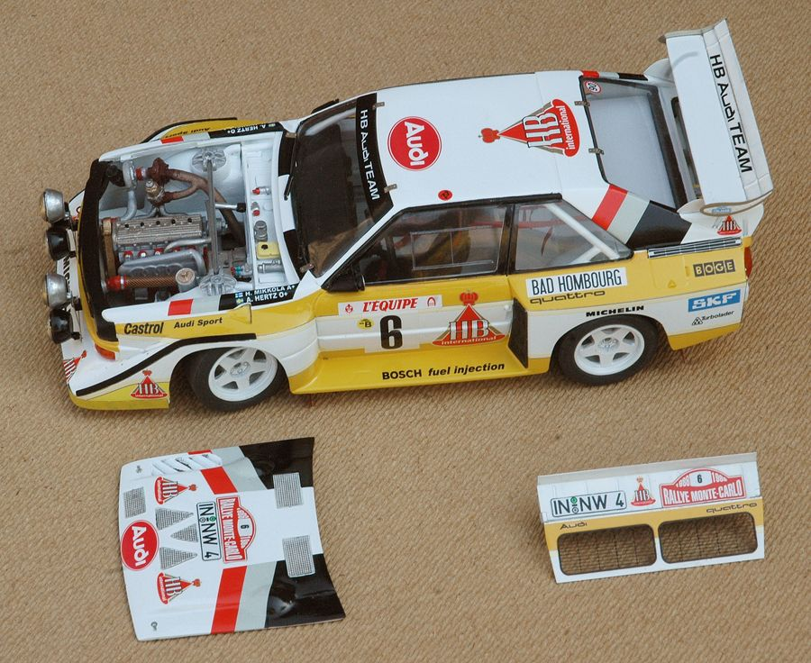 audi sport quattro s1 monte carlo 1986 model resin kit. Black Bedroom Furniture Sets. Home Design Ideas