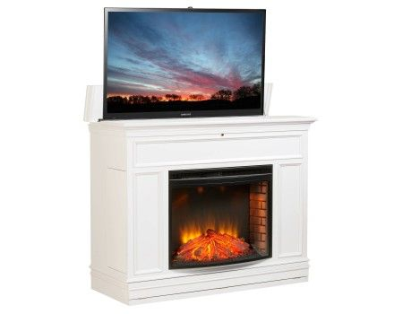 Grandover Electric Fireplace Lift W Tv Lift Made In The Usa Built In Electric Fireplace Tv Lift Cabinet Fireplace