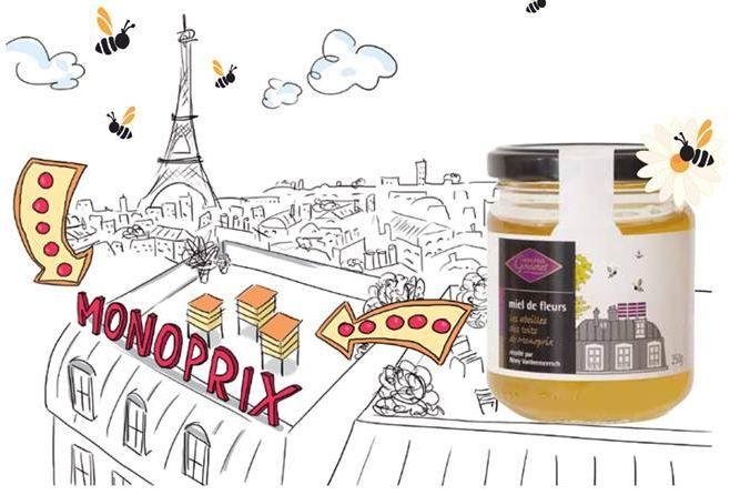 Monoprix en partenariat avec Un apiculteur près de chez vous.