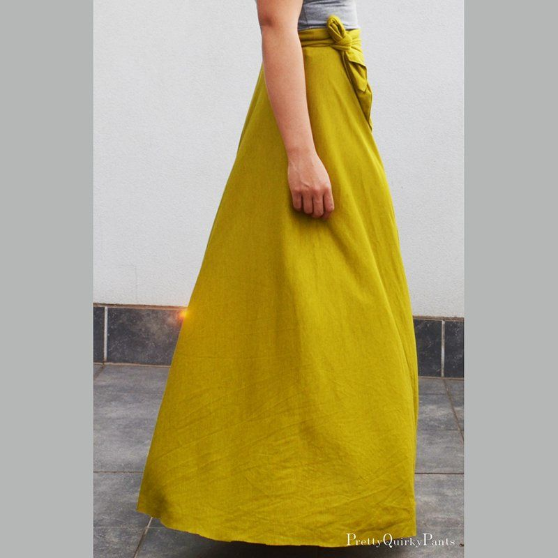 une jupe demi cercle en jersey jaune moutarde | Diy jupe