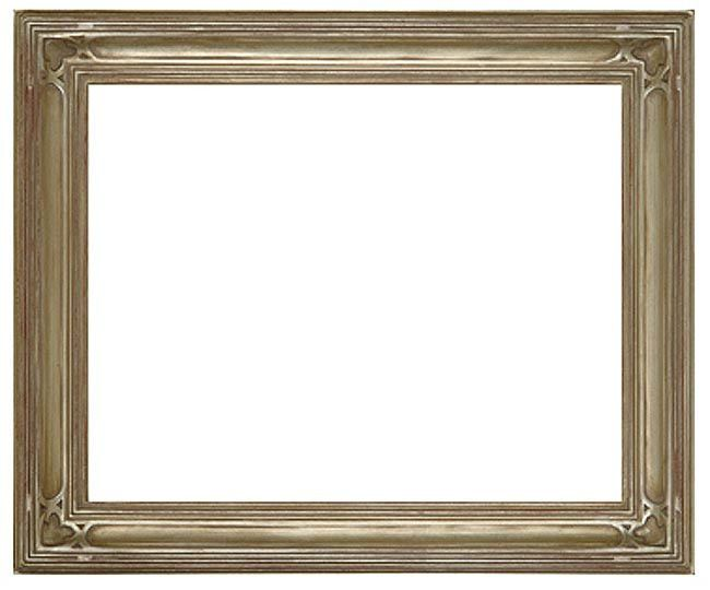 12 X 16 Hand Applied Silver Leaf Finish Frame 38 Cadres