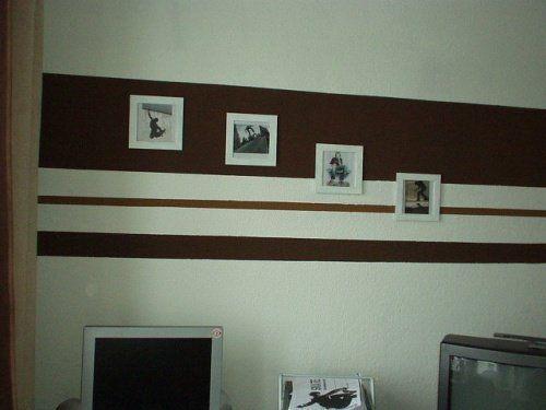 Mit Wandgestaltung Mit Farbe Streifen Schlafzimmer Für Auch Fein ...