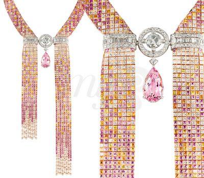 Collier Cravate Mosaique Delilah - L'Artisan du Rêve Boucheron
