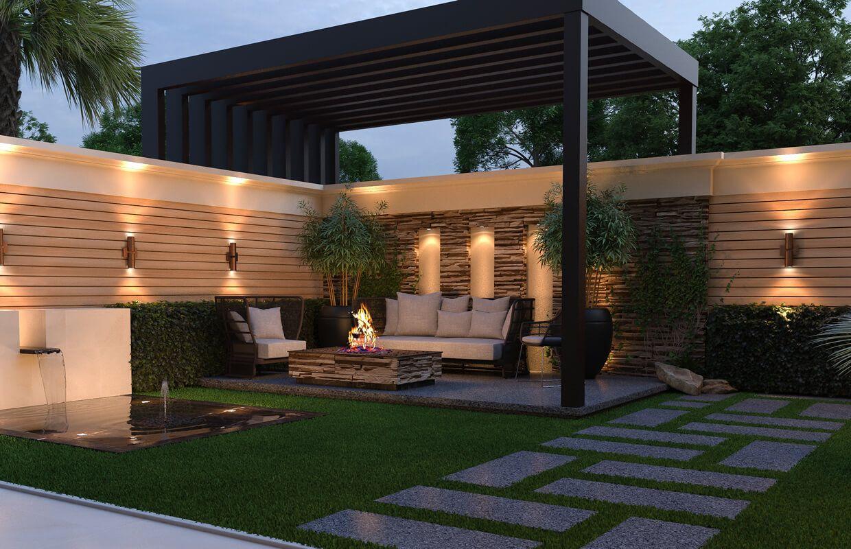 Modern Classic House Design Exterior Design Dammam Ksa Cas Modern Backyard Landscaping Modern Backyard Modern Patio Design