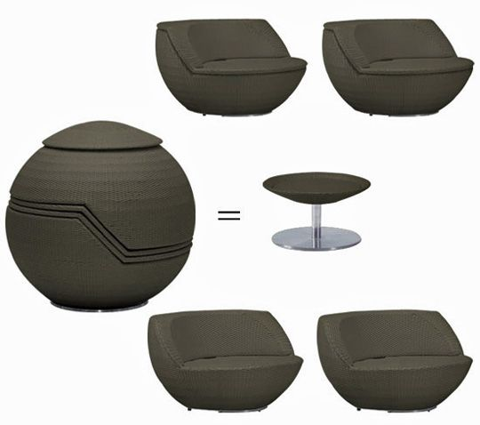 Outdoor Stacking Chair And Stool Sets By Nuevo Outdoor Furniture