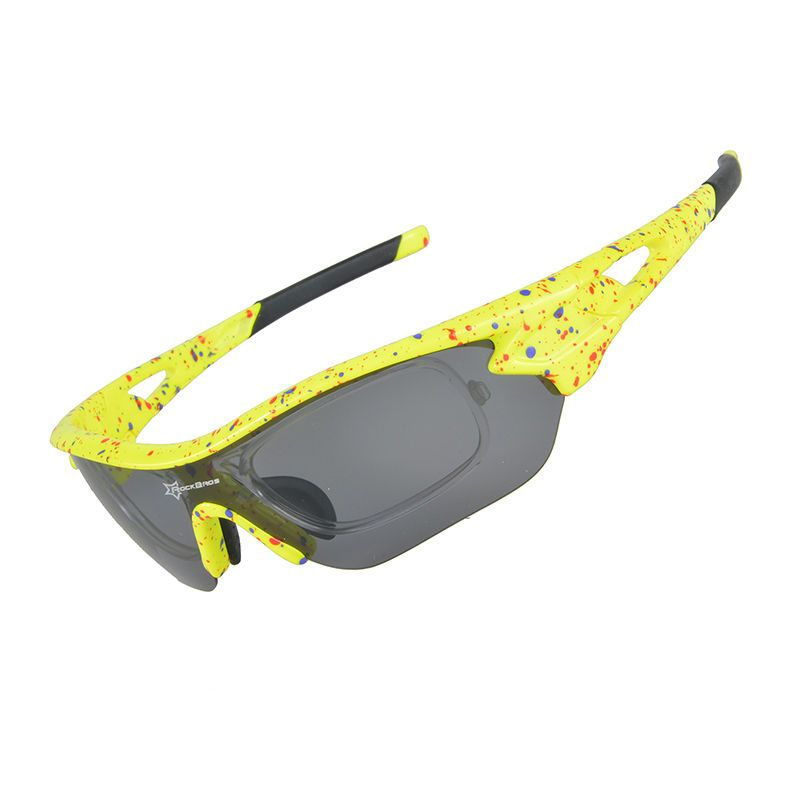 2a34725d02b RockBros Polarized Bike Goggles Sunglasses Cycling Glasses UV400 Yellow New   fashion  sporting  goods