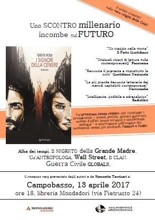 Lultimo romanzo di Tersite Rossi il 13 aprile a Campobasso