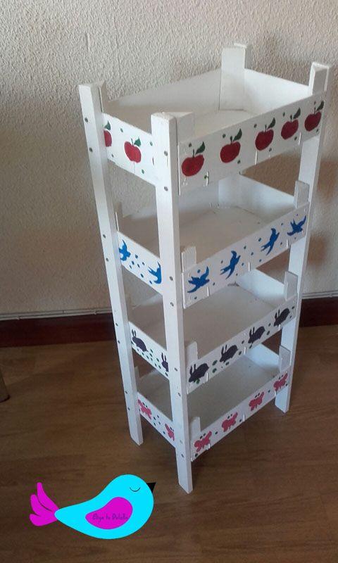 estanter a reciclada manualidades regalos y detalles hechos a mano manualidades pinterest. Black Bedroom Furniture Sets. Home Design Ideas