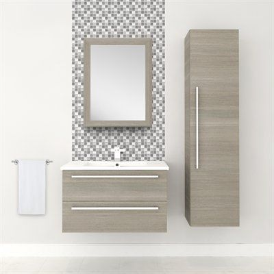 Cutler Kitchen Bath Silhouette Collection 30 In Wall Hung Vanity With Top
