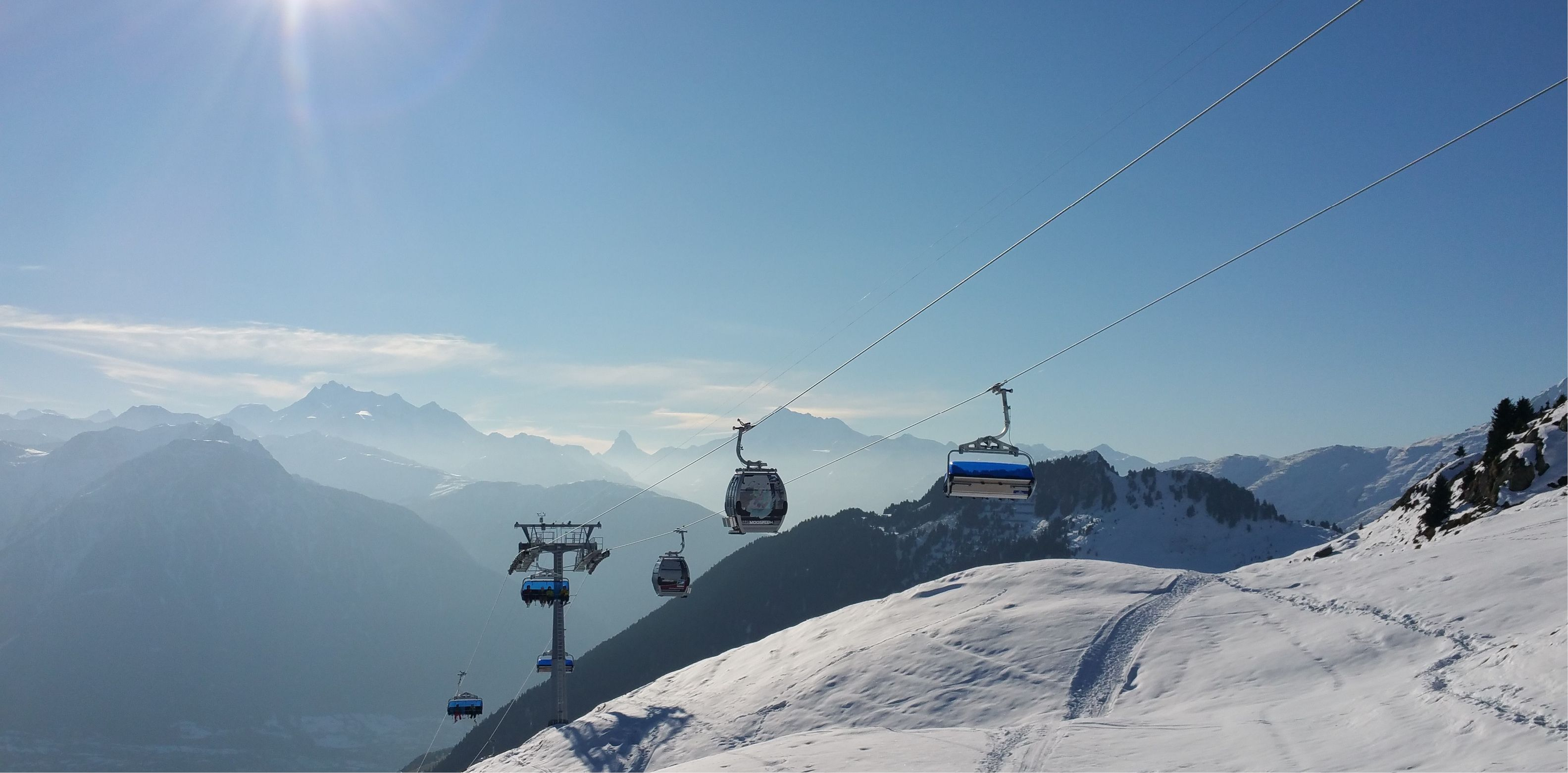 Die Kombi-Gletscherbahn Riederalp-Blausee-Moosfluh. ©aletscharena.ch