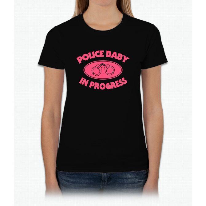 Police Baby In Progress Womens T-Shirt