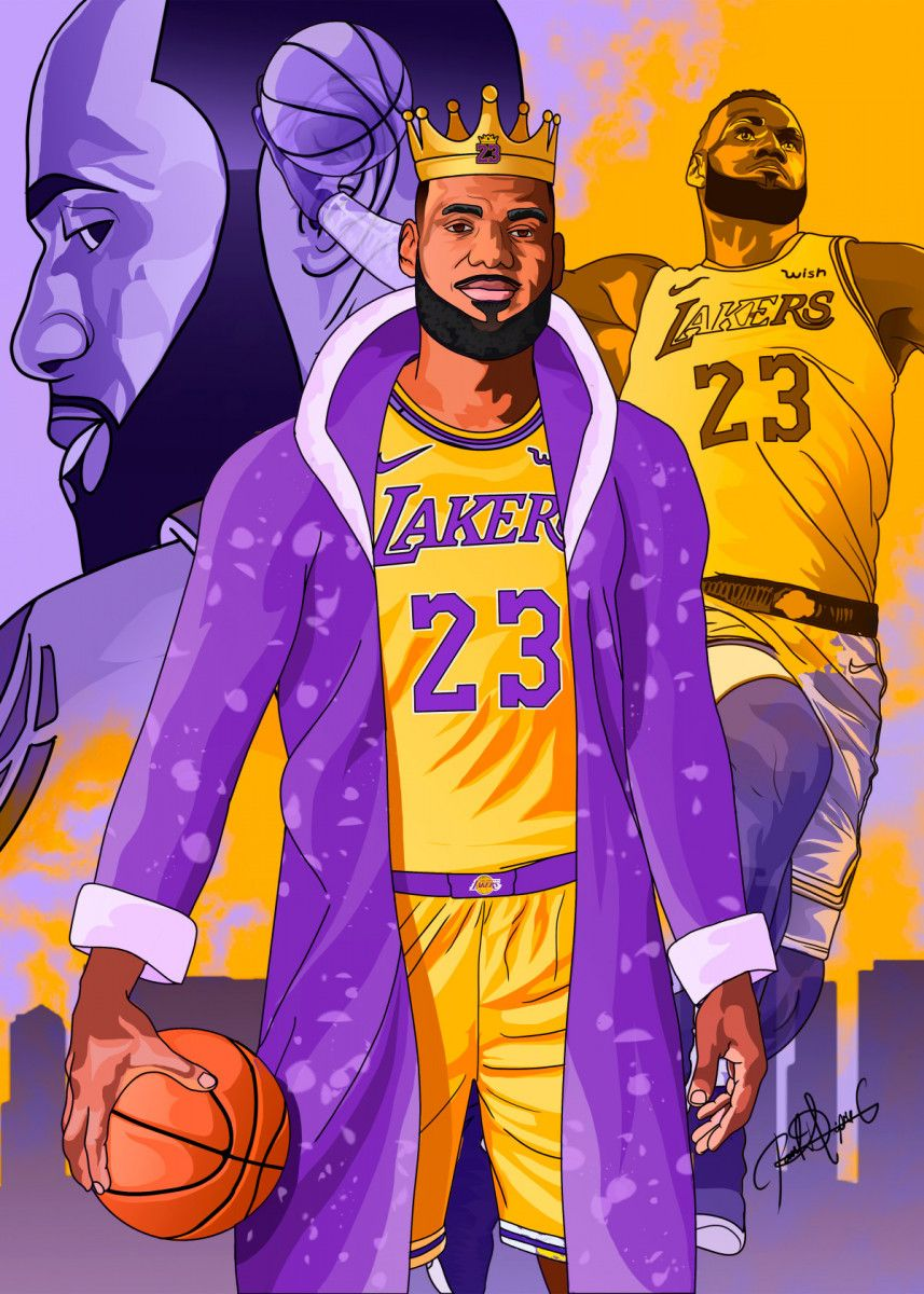The King Lebron James Fashion Poster Print Metal Posters Displate King Lebron King Lebron James Lebron James Lakers