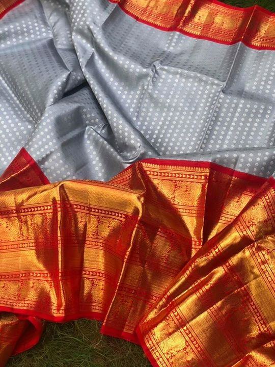 Photo of Exclusive range of classy kanjeevarams in very big borders and unique combinatio…