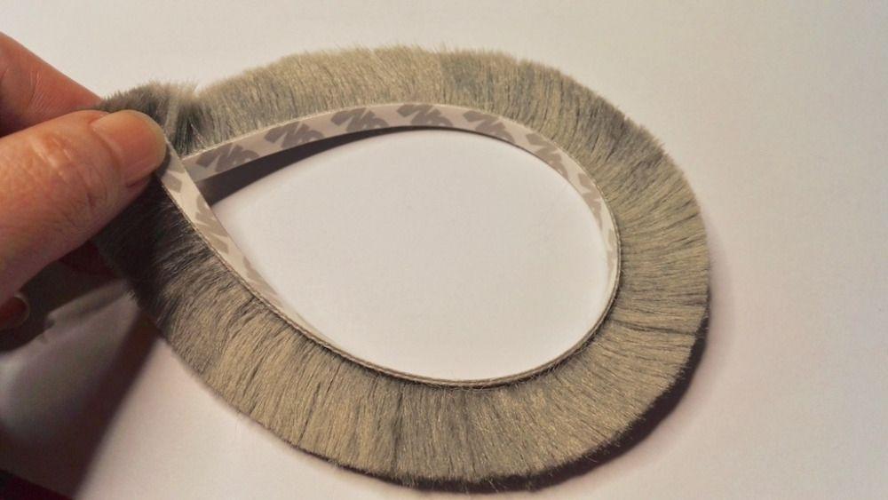 Self Adhesive Sealing Strip Felt Draught Excluder Wool Pile