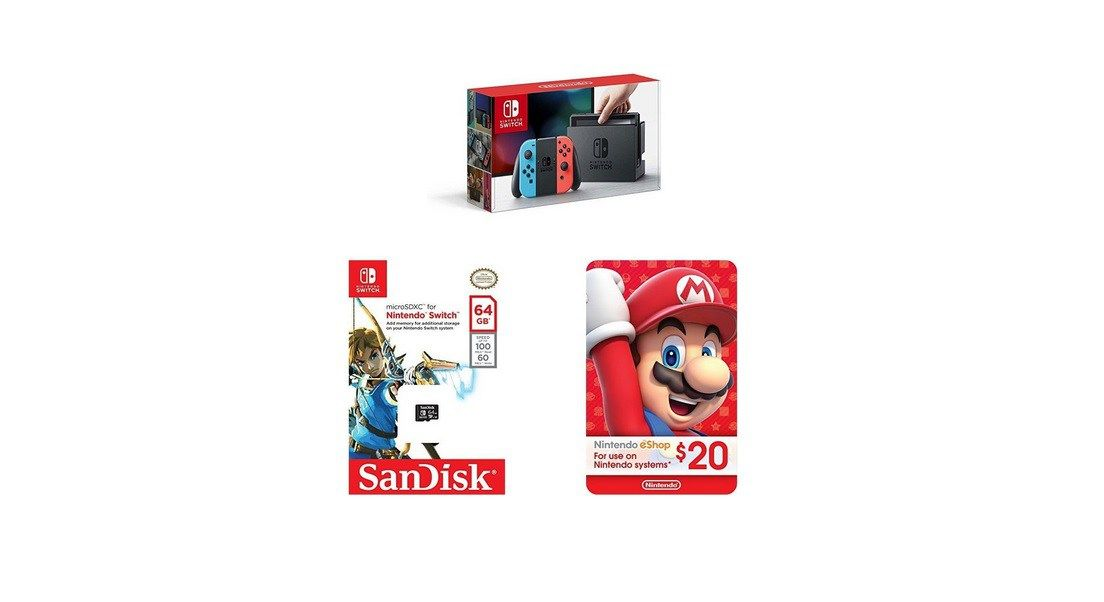 Amazon prime day neon blue and red joycon sandisk 64gb