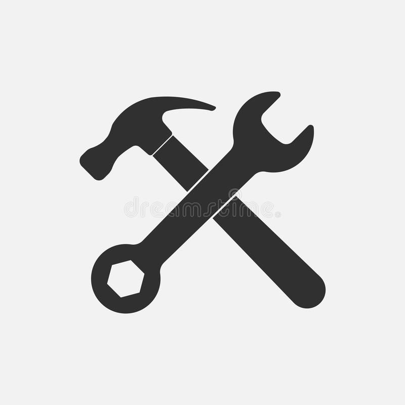 Hammer And Wrench Icon Isolated On Background Vector Illustration Eps 10 Affiliate Icon Isolated Hammer Wrench Backgro Vector Illustration Icon