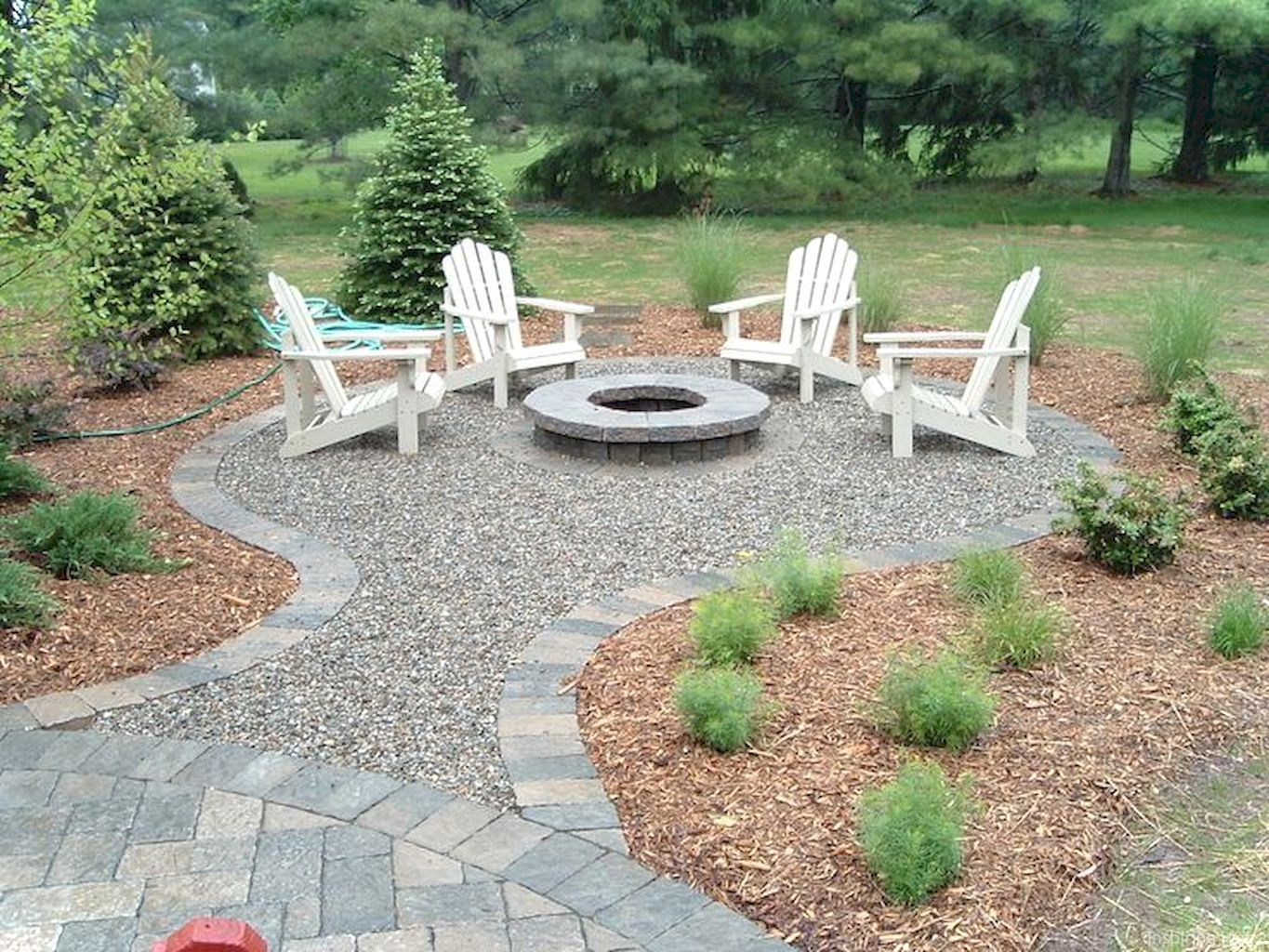 Paver Walkways Ideas for Backyard Patio ! #landscape # ... on Paver Patio With Fire Pit Ideas id=67281
