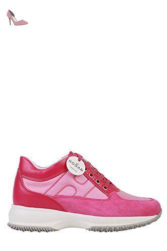 mode designer 9287d 2d7b0 Hogan , Chaussures de ville à lacets pour femme - rose ...