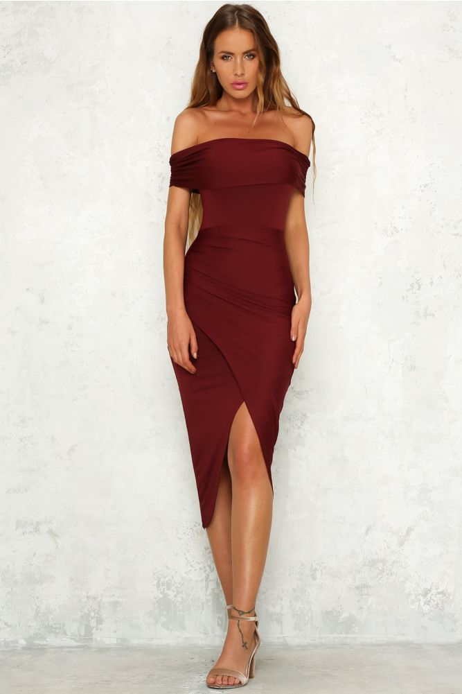 e90d2d0d8c Made Of Lightning Midi Dress Burgundy