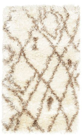 Just Arrived At CarpetVista.com Berber Style Shaggy Net   Beige Carpet  RVD5517 140x80 Cm