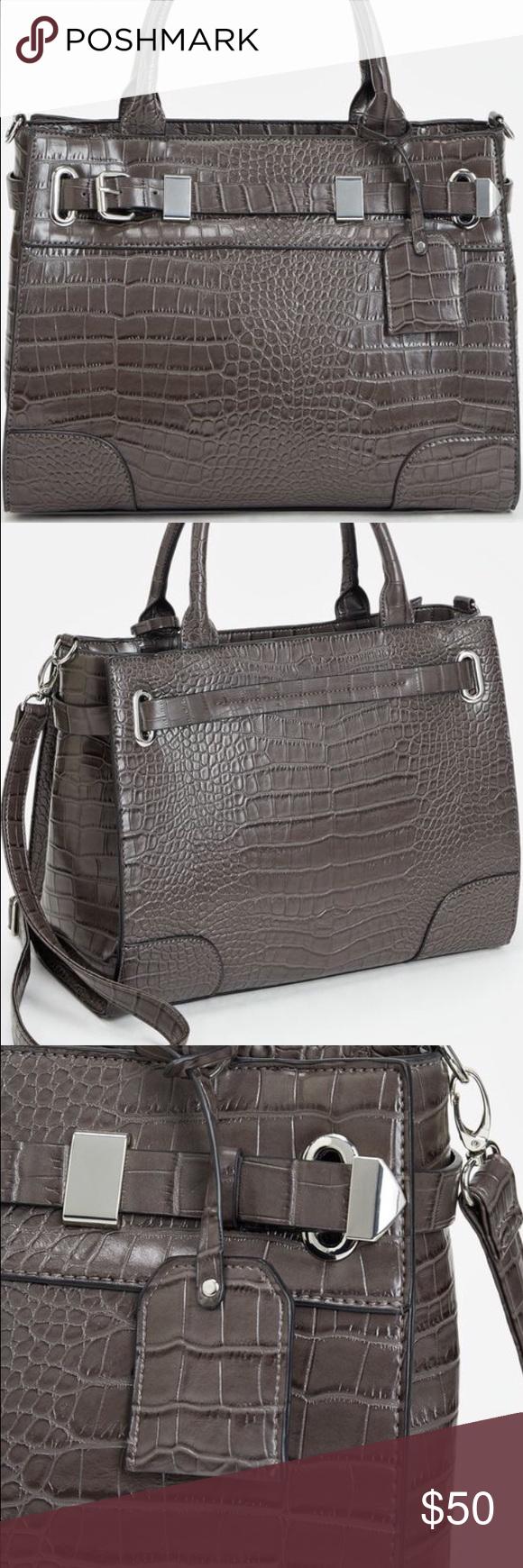 """Super cute satchel Bag details *Material: faux leather, size: 14L x 11.5H x 6.5D , shoulder drop measurement: 7"""", removable adjustable shoulder strap, pockets: 1 interior pocket , 1 interior zip, closure: zip closure     Fabulous bag!!! Bags Satchels"""