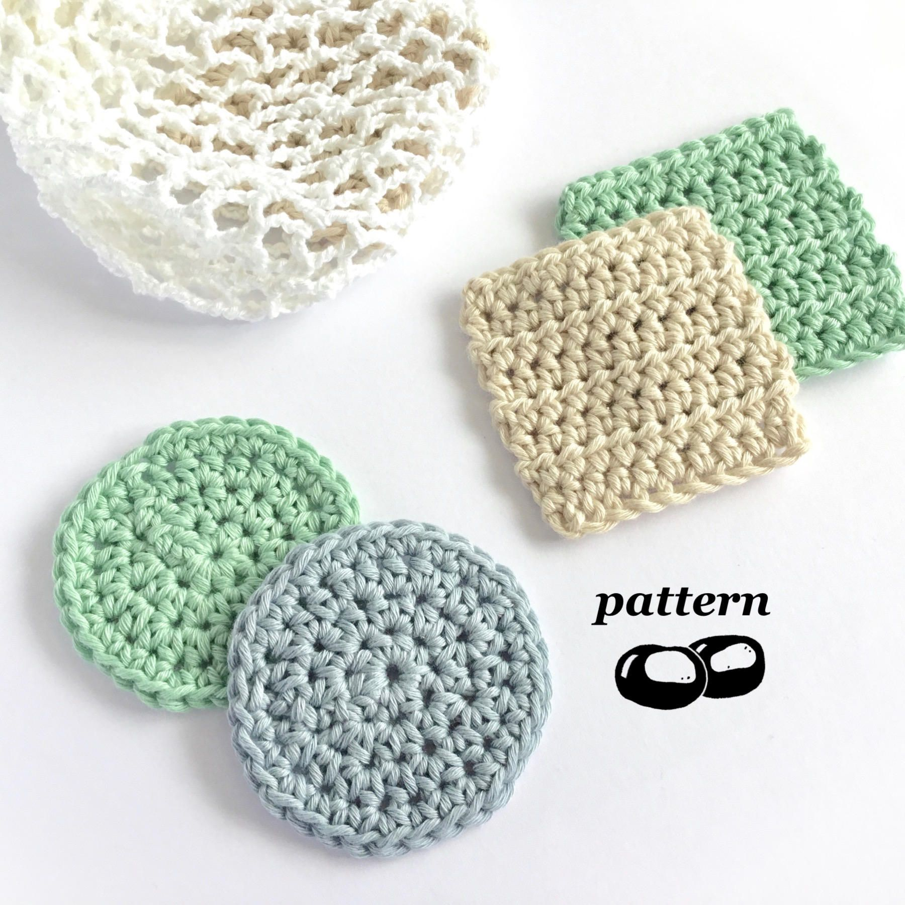 Crochet Face Scrubbies / Crochet Scrubbie Pattern / Crochet Laundry ...