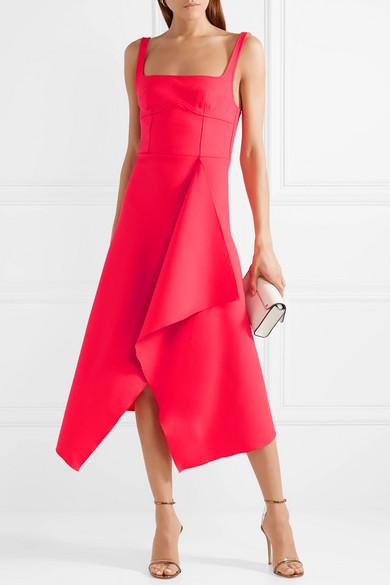 Dion Lee Asymmetric Stretch Wool Blend Midi Dress Net A Porter Com