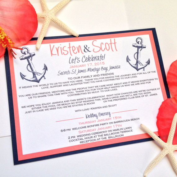 Destination Wedding Invitation, Welcome Cards for Destination