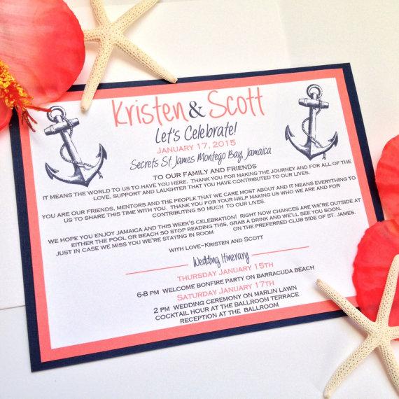 Destination Wedding Invitation Welcome Cards for Destination – Destination Wedding Thank You Cards