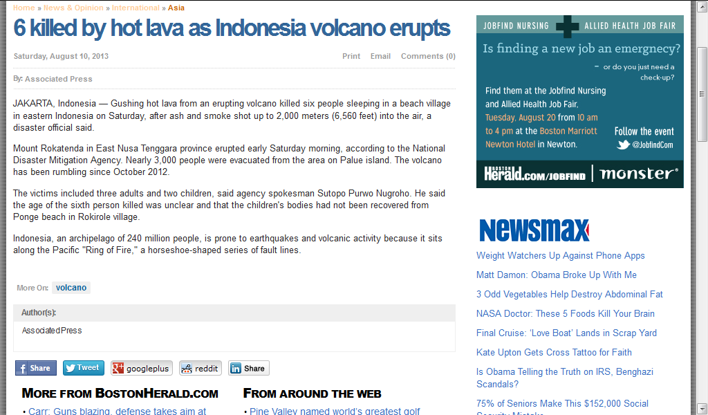 6 killed by hot lava as Indonesia volcano erupts